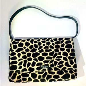 kate spade VTG giraffe shoulder bag crimson inside